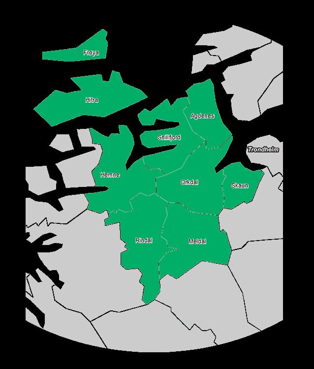 Kommunekart Orkdalsregionen